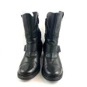 Harley Davidson Leather Black Biker Boots Sz 9